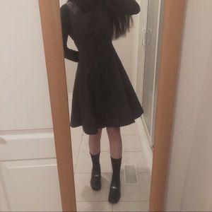 Vintage Burberry 100% wool jumper skirt dress grey